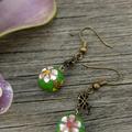 Cross and Flower Earrings