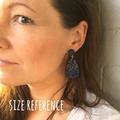 Polymer clay earrings, statement earrings in tropical green rainforest