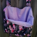 Lined tote bag - Australian flora & parrot