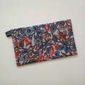 Tissue Holder - Botanical Floral - Coral/Blue - Bag Accessory - Practical Gift