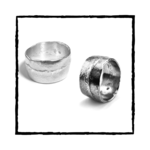 KALI Solid Argentium Silver Ring