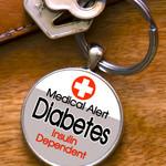 DIABETES Insulin Dependent Keyring