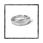 EVE Solid Argentium Silver Ring