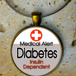DIABETES T1 or T2 Bag Tag