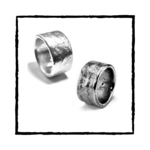MIKA II Solid Argentium Silver Ring