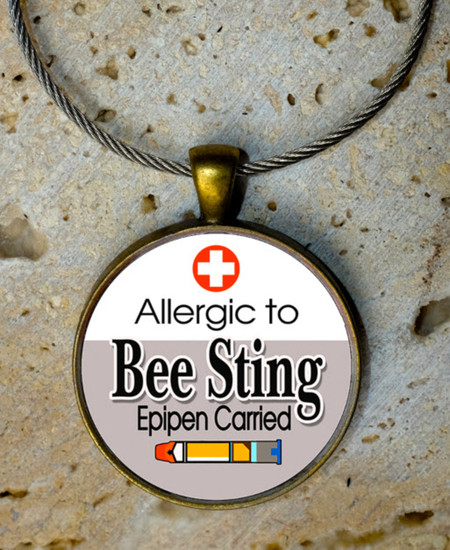 Allergic to Bee or Wasp Sting - Bag Tag
