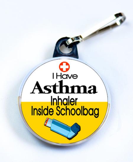 I HAVE ASTHMA -Inhaler Inside Schoolbag