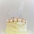 Dinosaur cake topper - Brachiosaurus - Silver mirror acrylic