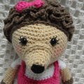 Hedgehog, , READY TO POST, Crochet Toy,  Girl Gift