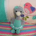 Ostrich: FREE POSTAGE,  Ready to Post, Crochet Toy,  Girl Gift