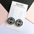 Polymer clay earrings, statement earrings in monochrome