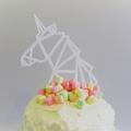 Unicorn cake topper -  White acrylic