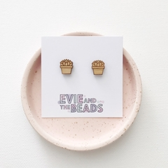 Mini Bamboo Succulent Stud Earrings