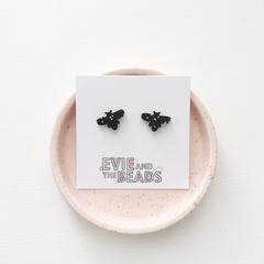 Honey Bee Acrylic Stud Earrings