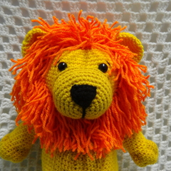 Lion: Free Postage, Ready to Post, Crochet Toy, Toddler Boy Gift