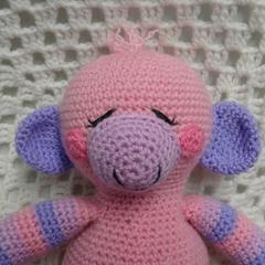 Monkey: READY TO POST, Crochet Toy,  Baby Gift, Girl Gift