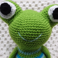 Frog: FREE POSTAGE, Ready to Post,  Crochet Toy, Boy Gift