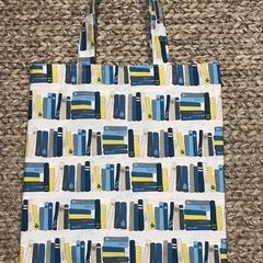 Blue books shopping bag