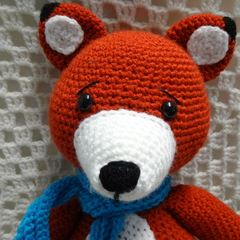 Fox: FREE POSTAGE, Made to Order, Crochet Toy, Boy Gift