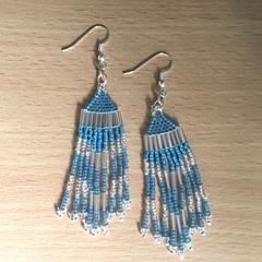 Blue & Silver Tribal Style Earrings
