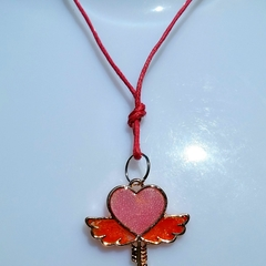 Small resin pendant with microbeads