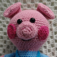 Pig: FREE POSTAGE, Ready to Post, Crochet Toy, Boy Gift, Girl Gift