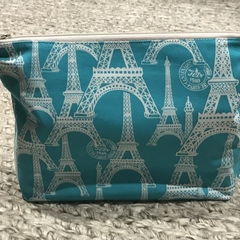 Teal Paris toiletries bag