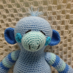 Monkey: READY TO POST,, Crochet Toy,  Baby Gift, Boy Gift