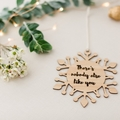 Snowflake ornament, Christmas tree decoration, personalised christmas, gift for