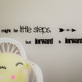 Little steps - Quote / Wall sign