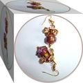Dusky pink wedding cake bead earrings.