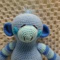 Monkey: READY TO POST,, Crochet Toy,  Baby Gift, Boy Gift