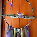LARGE Dream Catcher Crystals Bird Spider Purple Lemon Grey Amethyst Driftwood