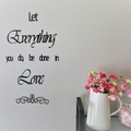 Done in Love - Quote / Wall sign