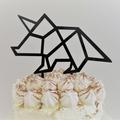 Dinosaur cake topper - Triceratops - Black acrylic
