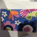 Flowers and butterflies shopping bag