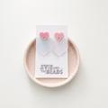 Iridescent Heart Statement Acrylic Earrings