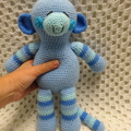Monkey: FREE POSTAGE, Ready to Post, Crochet Toy,  Baby Gift, Boy Gift