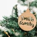 Custom Christmas bauble, personalised Christmas bauble, Christmas tree decoratio