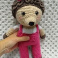 Hedgehog: FREE POSTAGE, Ready to Post, Crochet Toy,  Girl Gift