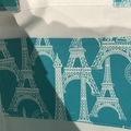 Teal Paris shopping bag