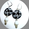 Black glass earringsFree postage