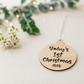 Christmas bauble, personalised Christmas bauble, Christmas tree decoration, chri