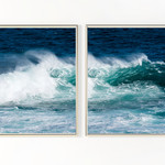 Set of Two Wave Fine Art Photographic Prints, Ocean Waves, Surf Prints,
