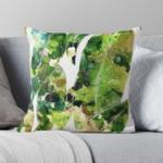 Gum Leaves Throw Cushion