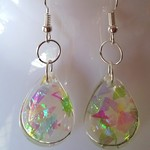 Resin earring with dichroic film