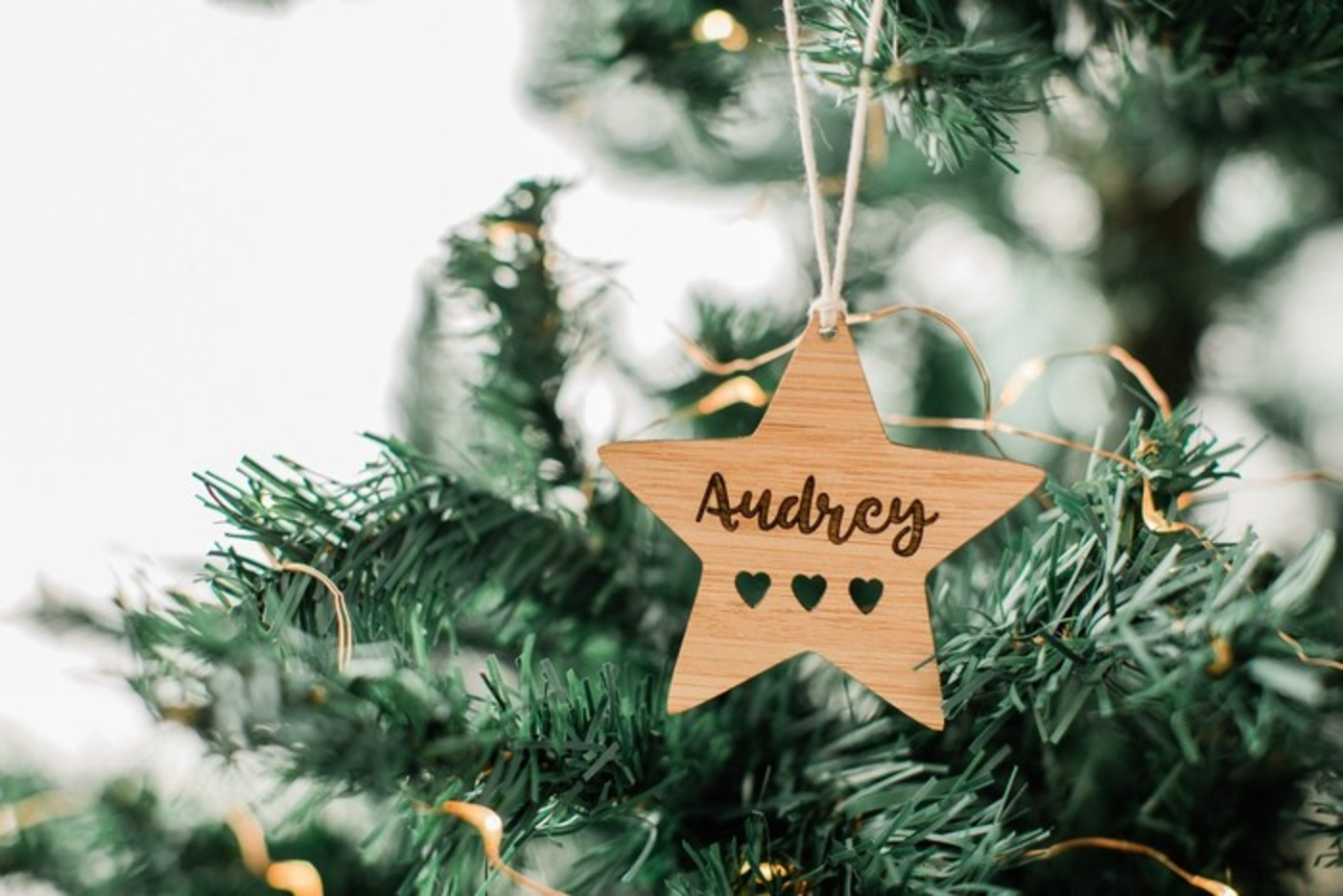 Christmas Leaf Name.Personalised Christmas Bauble Gift For Girlfriend