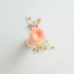 Rose gold lip tint