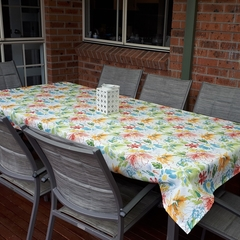 OUTDOOR FLORAL RECTANGLE TABLECLOTH