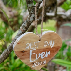 Love Heart Celebrate A Special Date Reclaimed Timber Sign